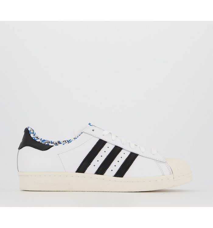 adidas Statement Superstar 80s WHITE BLACK X HAVE A GOOD TIME,White and Black,White