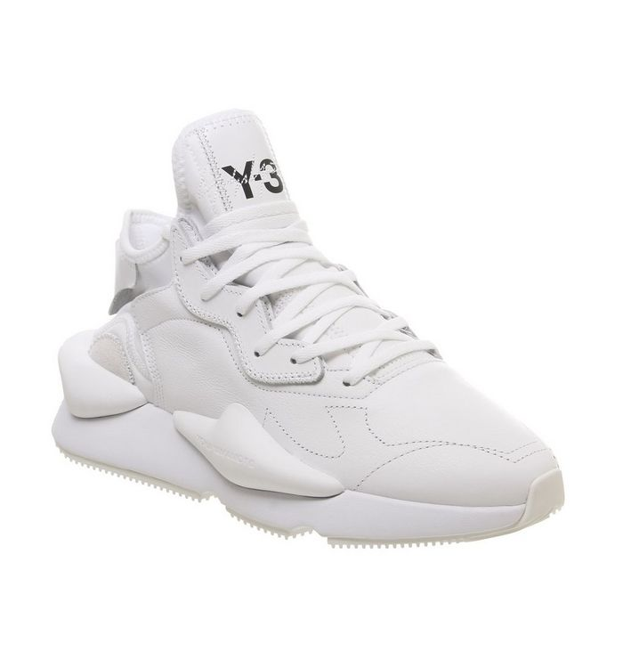 228dff0a6 adidas Y3 Y3 Kaiwa Trainers White Leather - His trainers