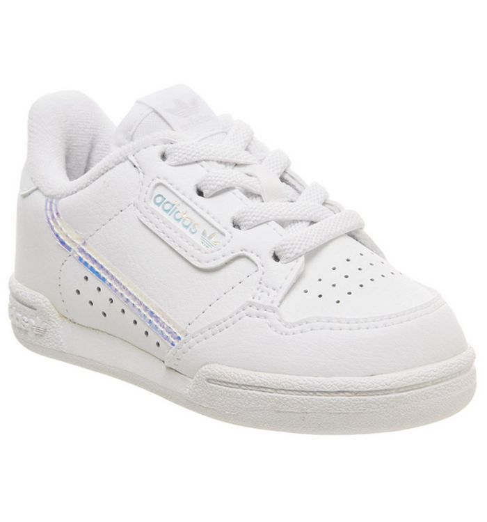 Image of adidas 80s Continental Infant WHITE IRIDESCENT