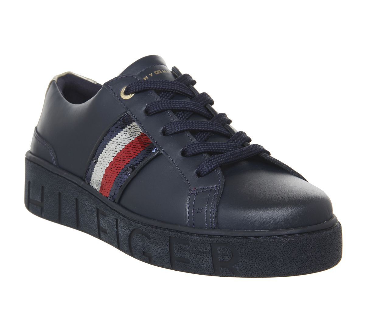 63f00b2a7 Tommy Hilfiger Sequins Fashion Sneakers Midnight - Hers trainers