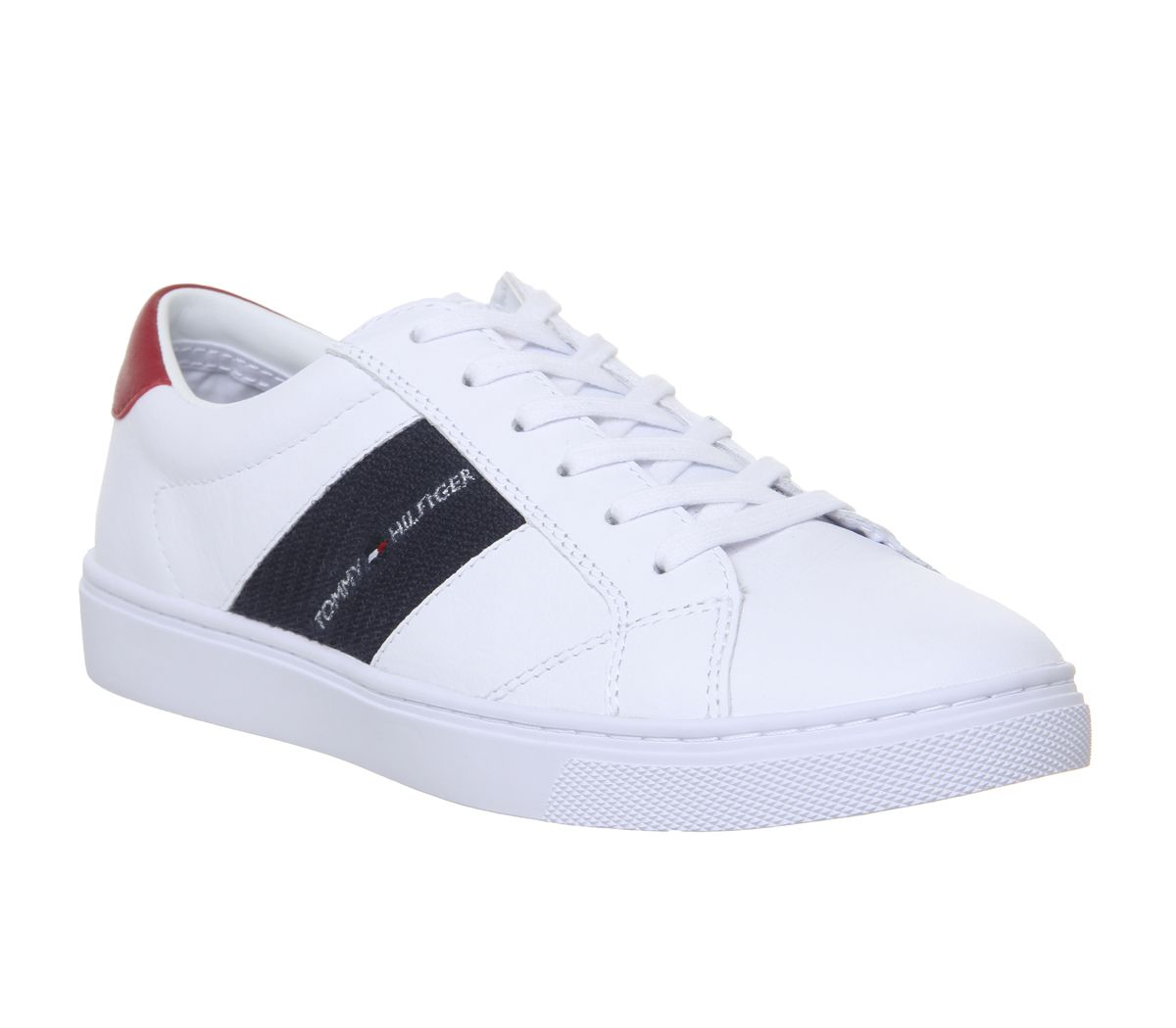 1bbae0050bf8 Tommy Hilfiger Badge Sneakers White - Hers trainers