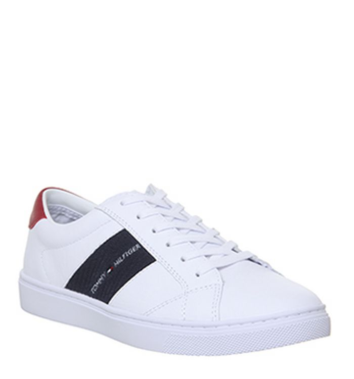 d150b606 04-12-2018 · Tommy Hilfiger Badge Sneakers White. £105.00. Quickbuy.  04-12-2018 · Tommy Hilfiger Flag Sneaker Platform Trainers