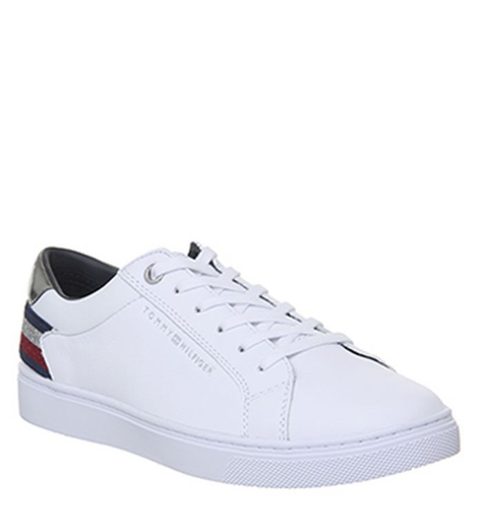 7b2490f61753 Tommy Hilfiger Badge Sneakers White. £105.00. Quickbuy. 04-12-2018