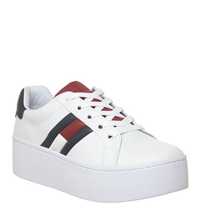 891b90e3 04-12-2018 · Tommy Hilfiger Flag Sneaker Platform Trainers