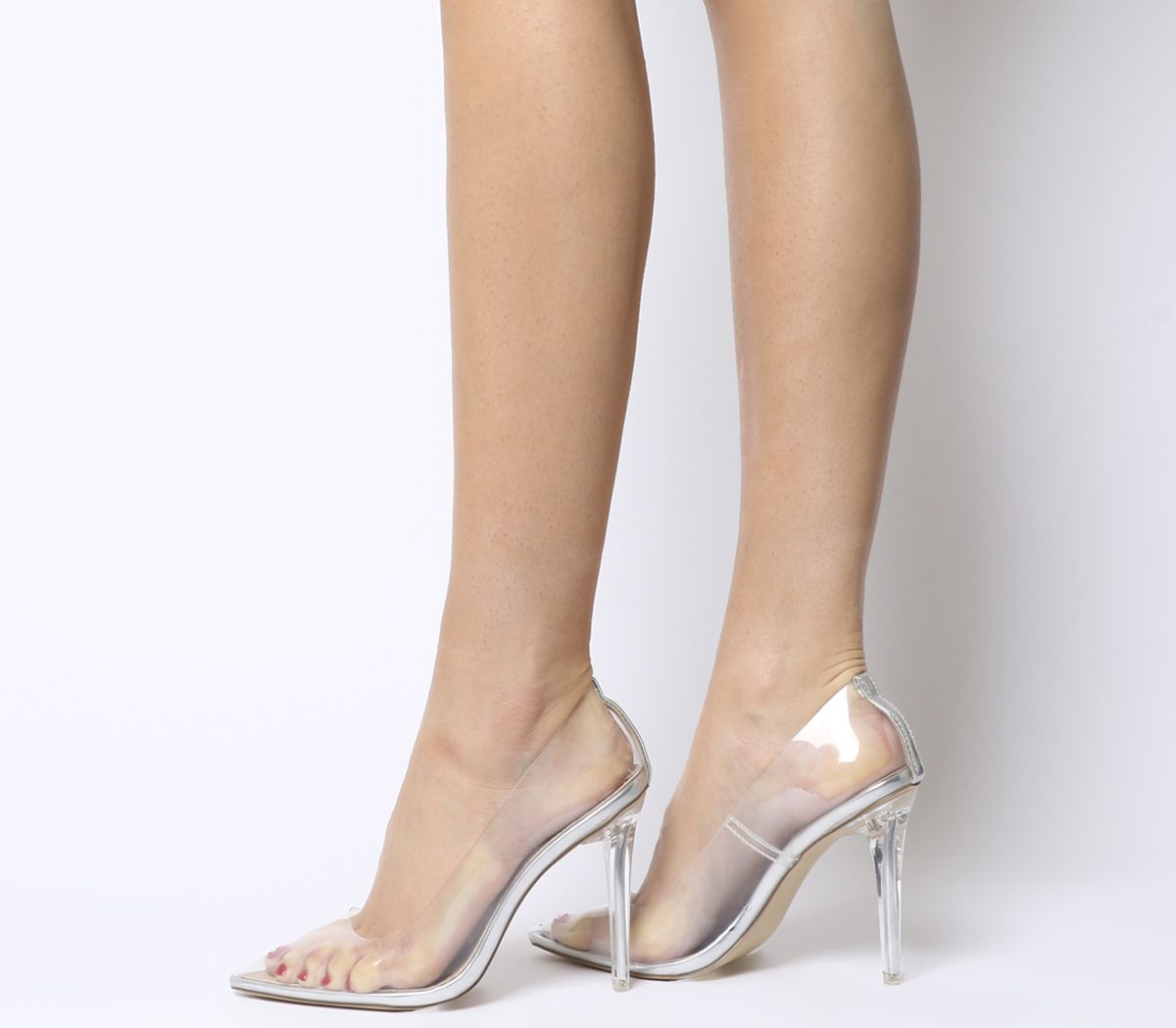 9a73832ae96 Office Hadie Transparent Heel Court Shoes Perspex - High Heels