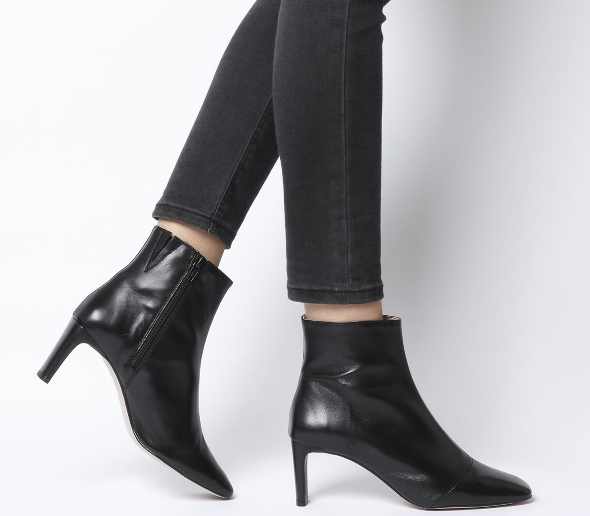 0d9f79226ac Adverse Square Toe Low Heel Boots