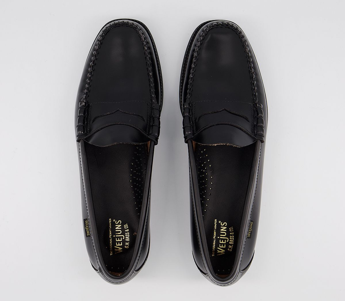 9c9317e46114 G.H Bass   Co Easy Weejun Penny Loafers Black - Smart