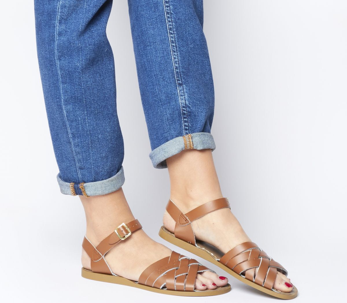 353251d33 Salt Water Retro Sandals Tan Leather - Sandals