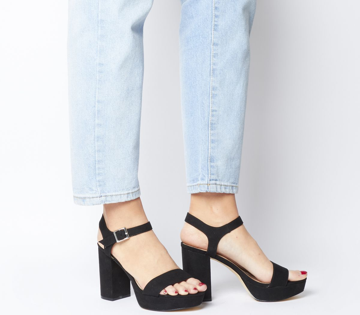 5f02c5a787 Office Must Have Platform Sandals Black - Mid Heels
