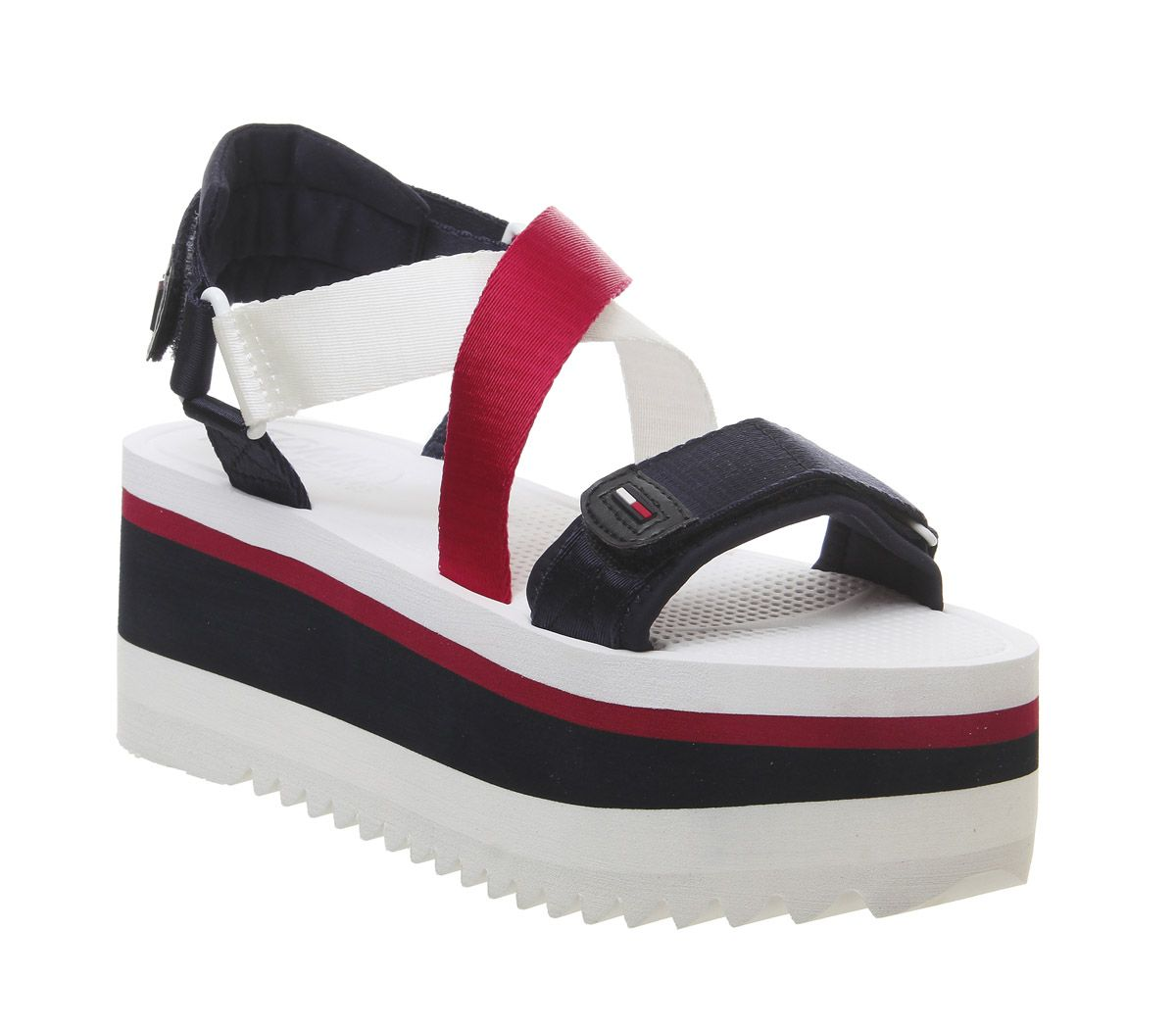 b03a1a103 Tommy Hilfiger Colette Sandals Red White Blue F - Sandals