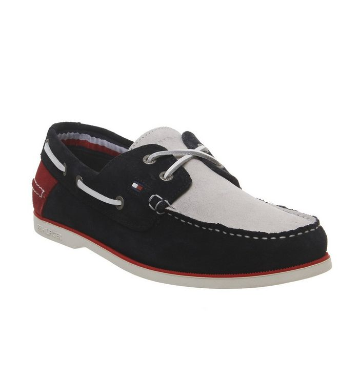 Tommy Hilfiger Knot Boatshoe NAVY RED WHITE