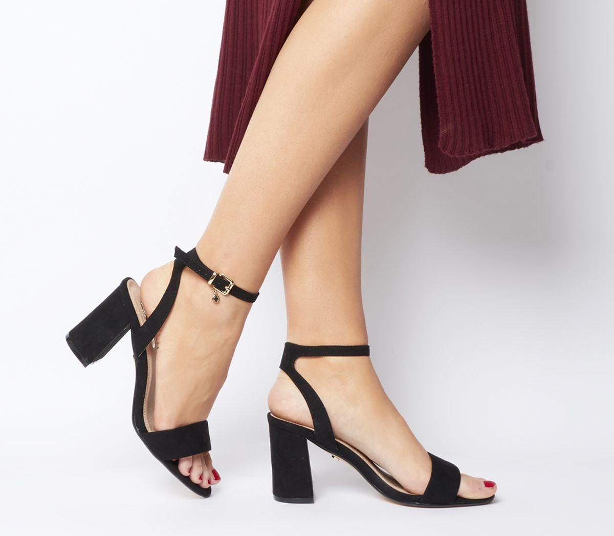 a7c8f9384 Office Marigold Strappy Heels Black - Mid Heels