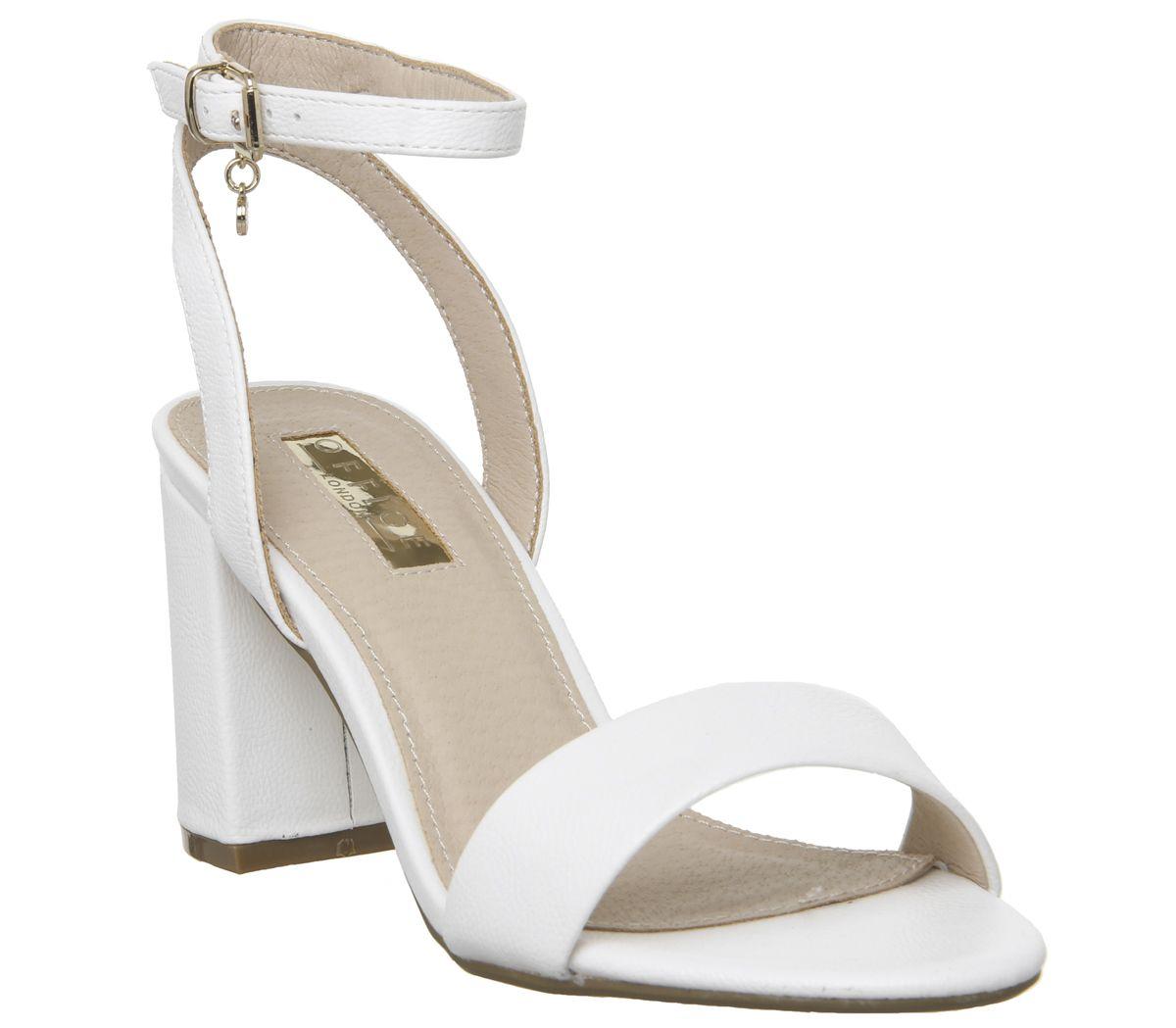 dd6492501 Office Marigold Strappy Heels White Pu - Mid Heels