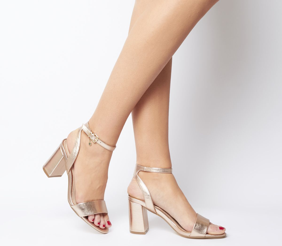 6c87c1811 Office Marigold Strappy Heels Rose Gold Textile - Mid Heels