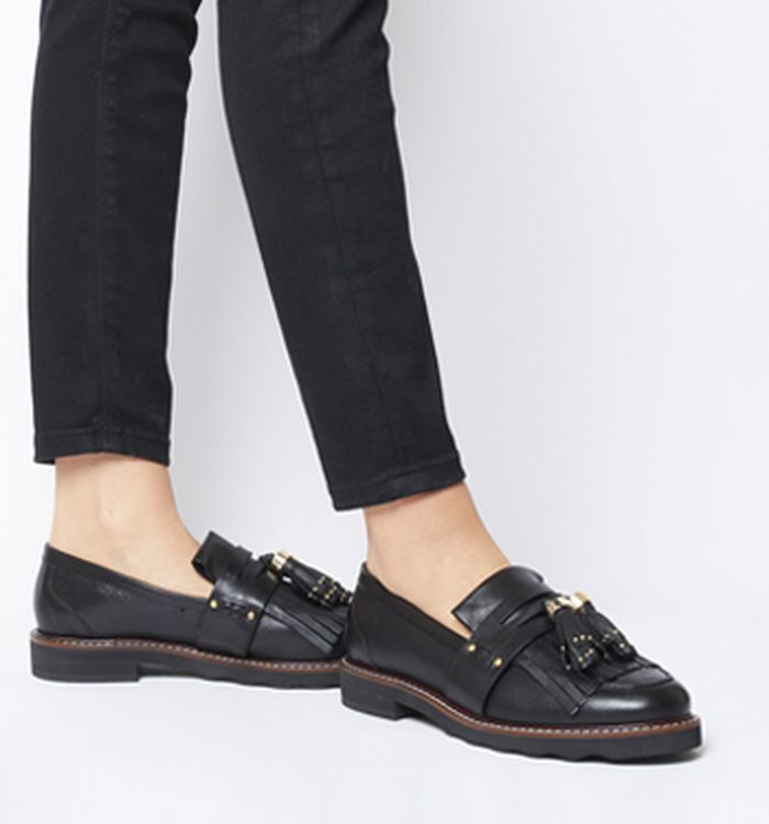 483bfd06d49 24-01-2019 · Office Fence Tassel Loafers Black Leather
