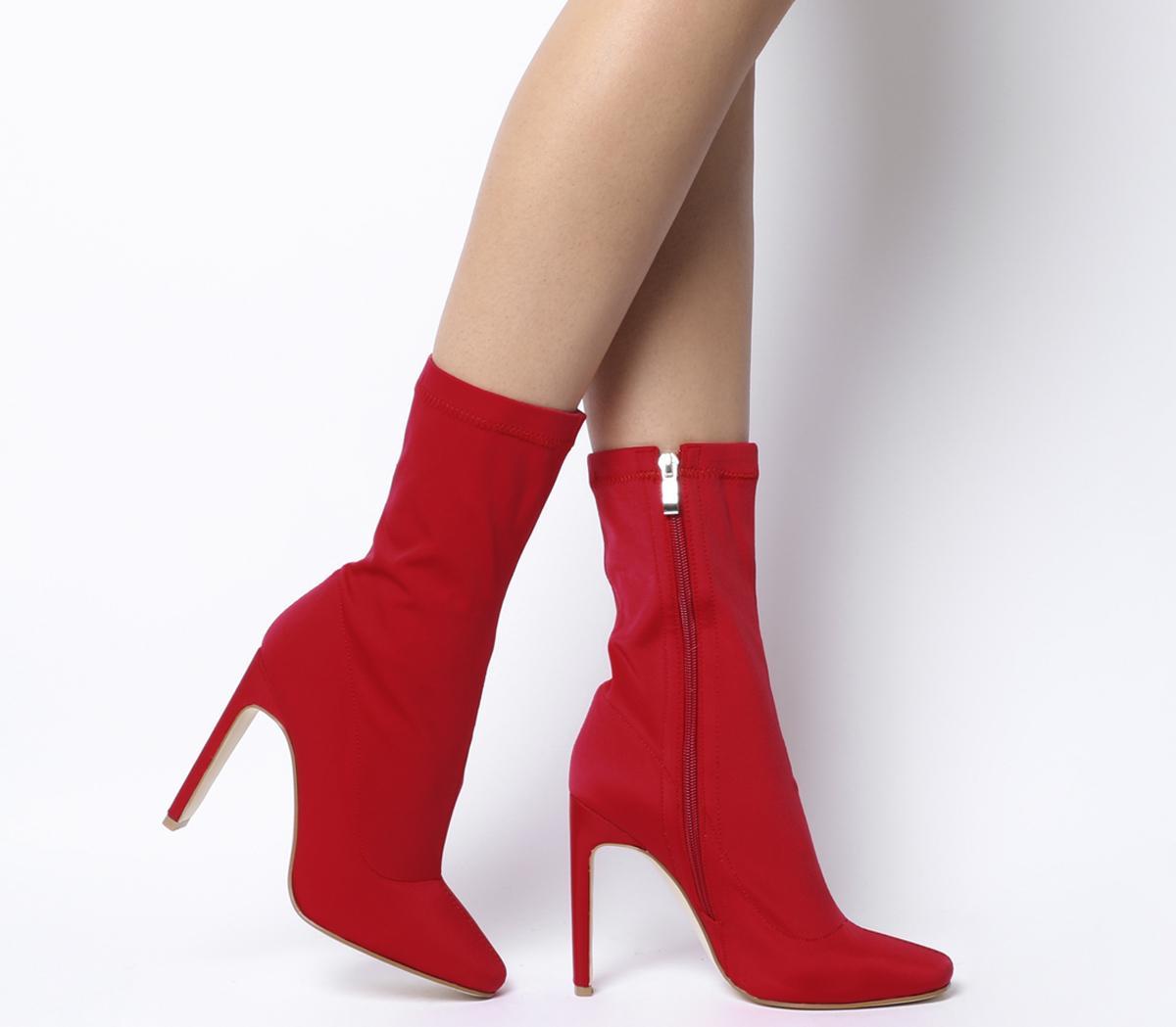 Cassia Elastic Heeled Boots