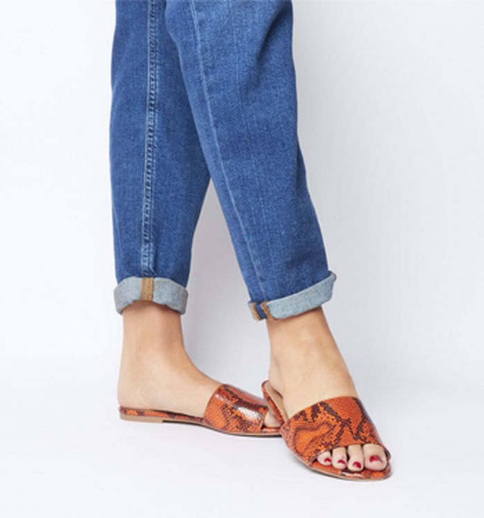 fe05a2fa1fa Office Message Feature Heel Mules Clear Orange. £39.00. Quickbuy. Launching  21-02-2019