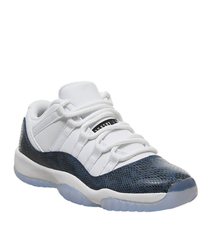 b7603ae149df7 Air Jordan 11 Low Trainers White Black Navy. £155.00. Quickbuy. Launching  19-04-2019