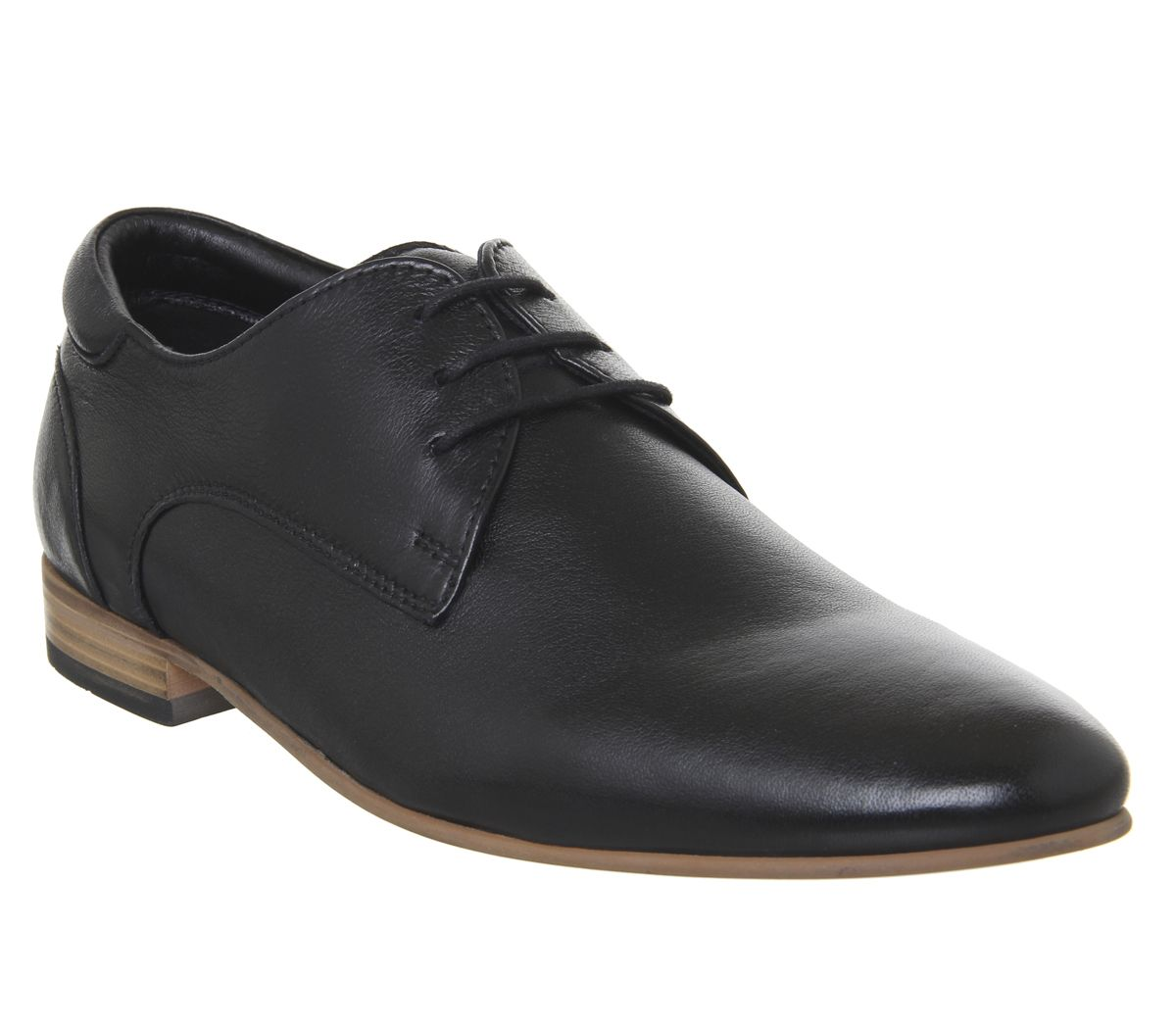 0343c2ce635 Office Laugh Derby Shoes Black Leather - Smart