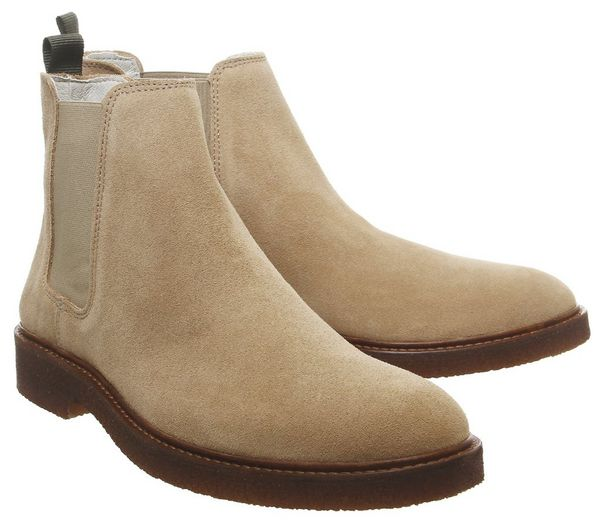 Office Locked Chelsea Boots Beige Suede - Boots fa6Y1KV