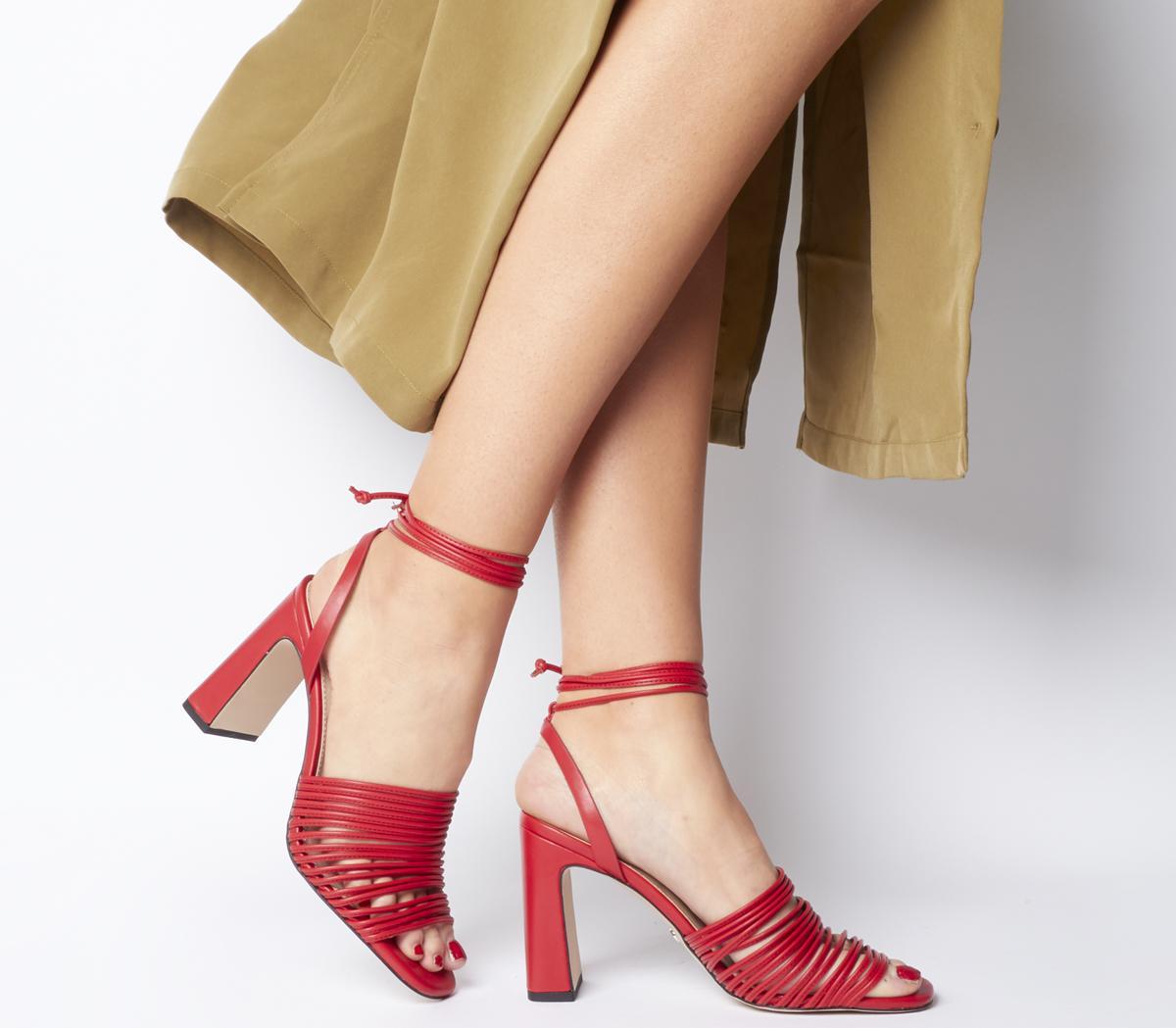 Macaroon Multi Strap Block Heels