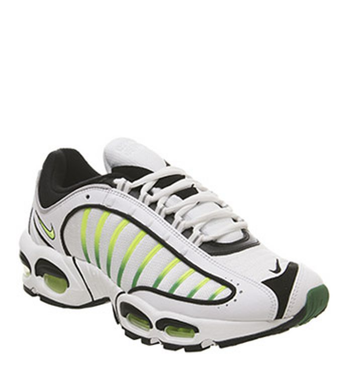 super popular 40d23 4000e Launching 25-04-2019. Nike Air Max Tailwind 4 Trainers White Volt Black  Aloe Verde Total Crimson. £140.00