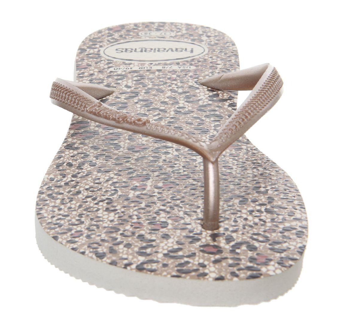 dd353c883b1e Havaianas Slim Animals Flip Flops Beige Rose Gold - Sandals