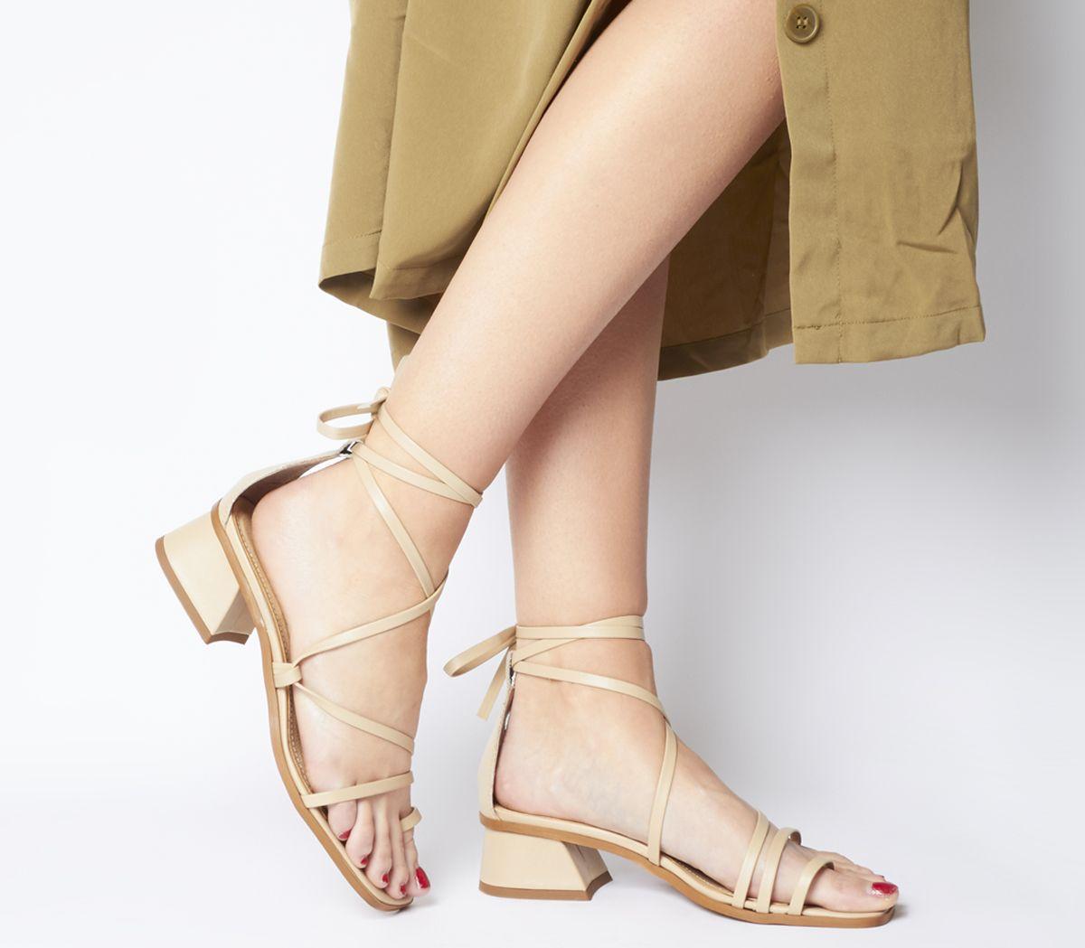 Minimalist Toe Loop Strappy Heels by Office
