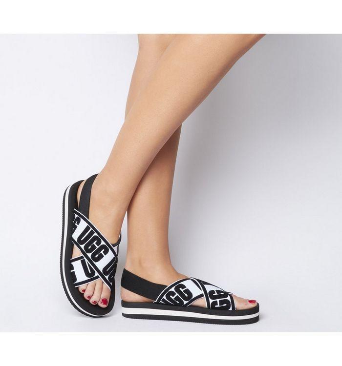 UGG Marmont Graphic Sandal BLACK