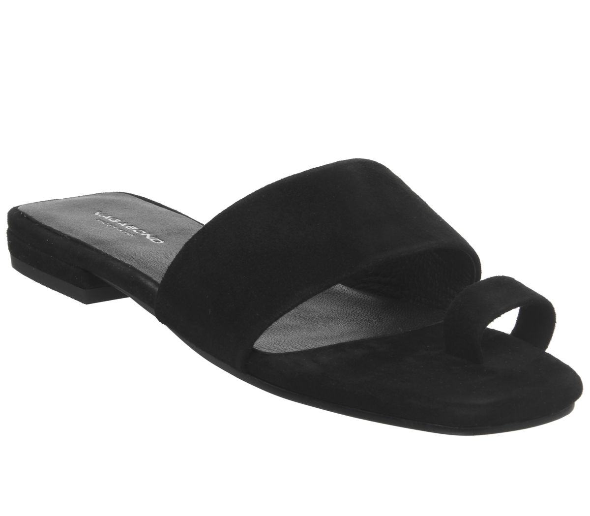 8acbc6e53 Vagabond Becky Toe Loop Sandals Black - Sandals