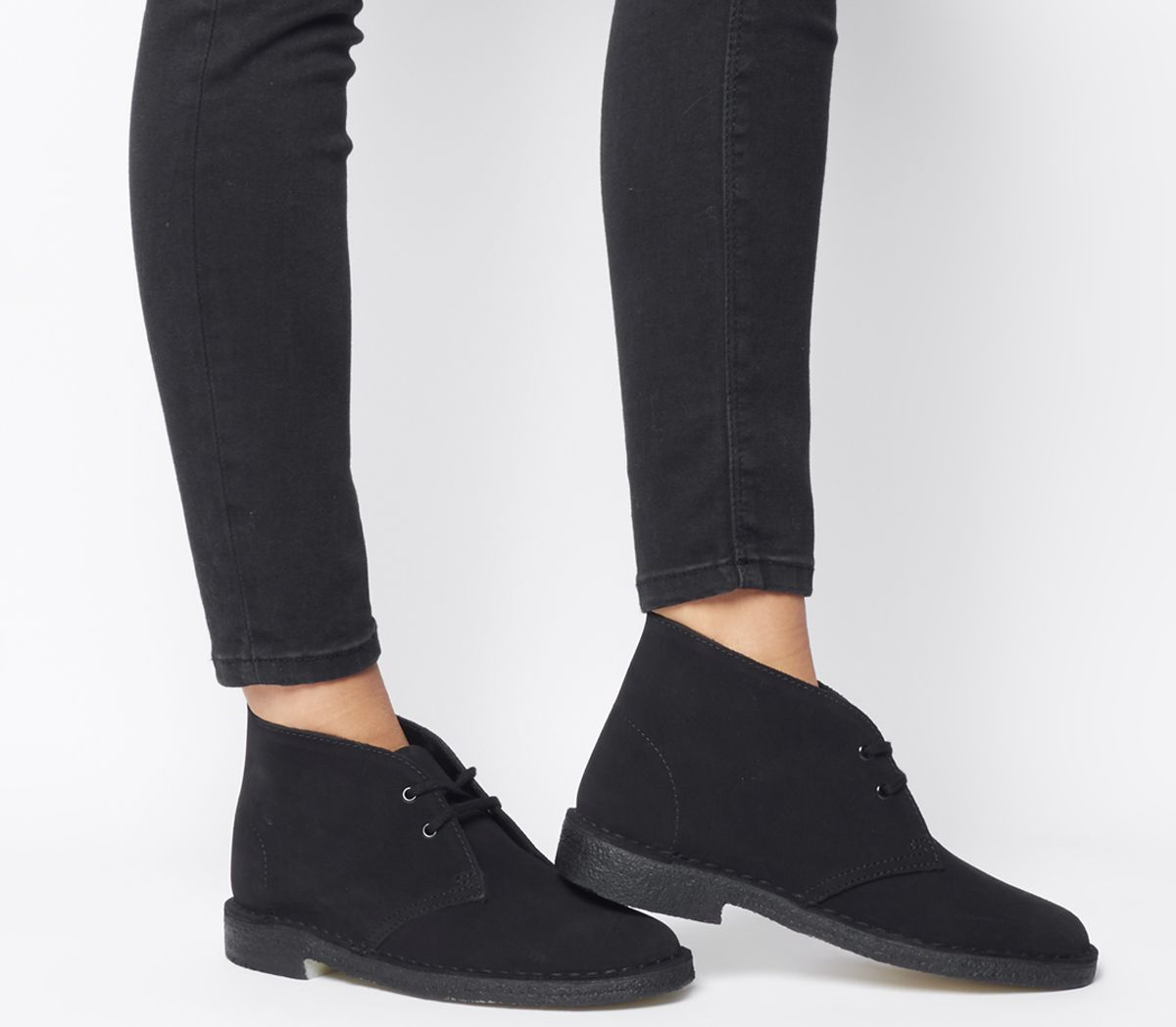 the latest 939f0 1f980 Clarks Originals Clarks Desert Boots Black Suede - Ankle Boots