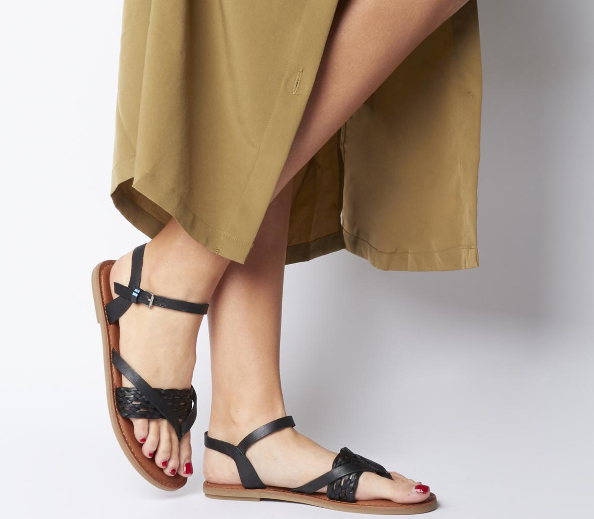 Leather Toms Sandals Lexie Toms Black Pw8nO0k