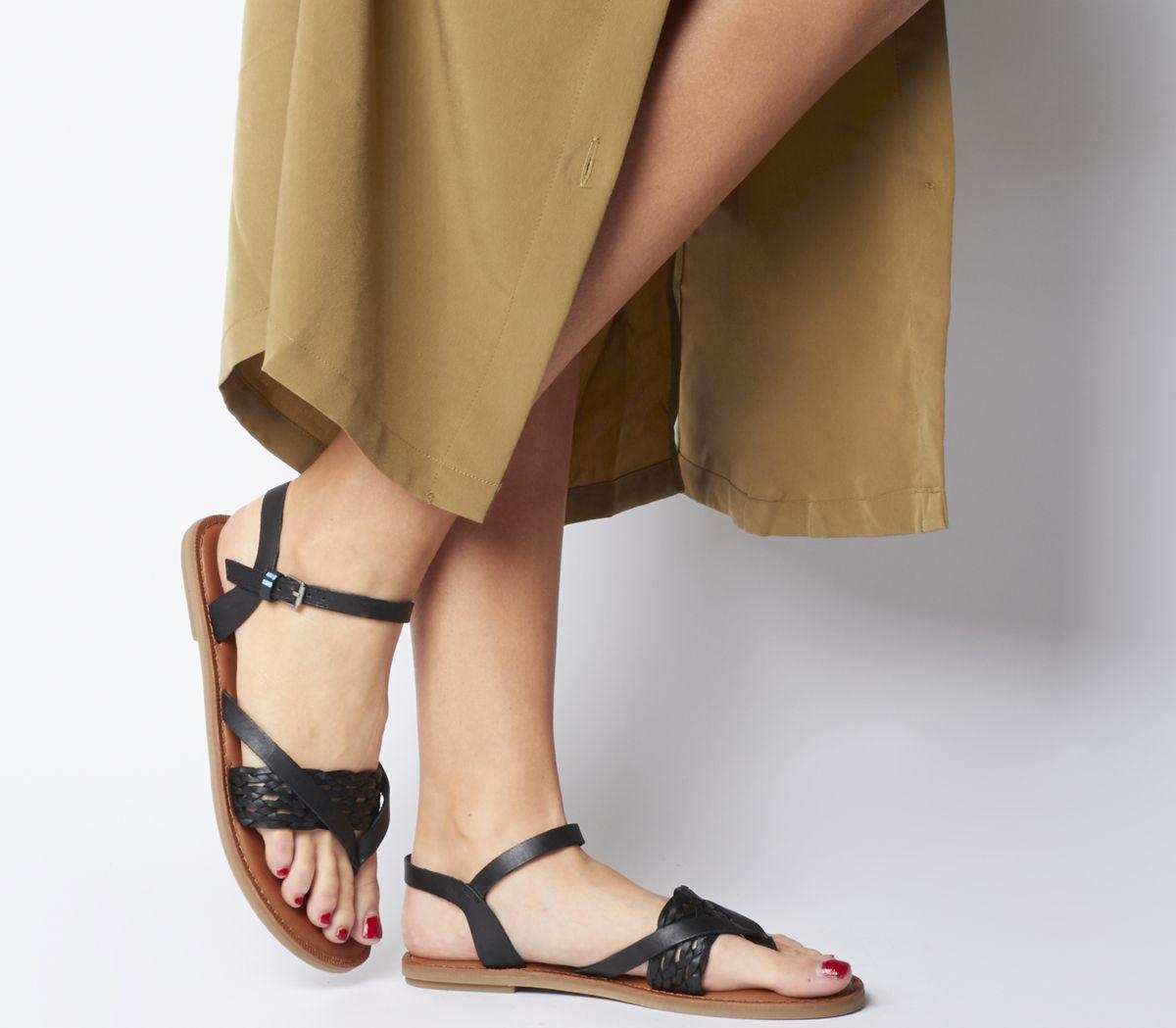 964ee4d8a86 Toms Lexie Sandals Black Leather - Sandals