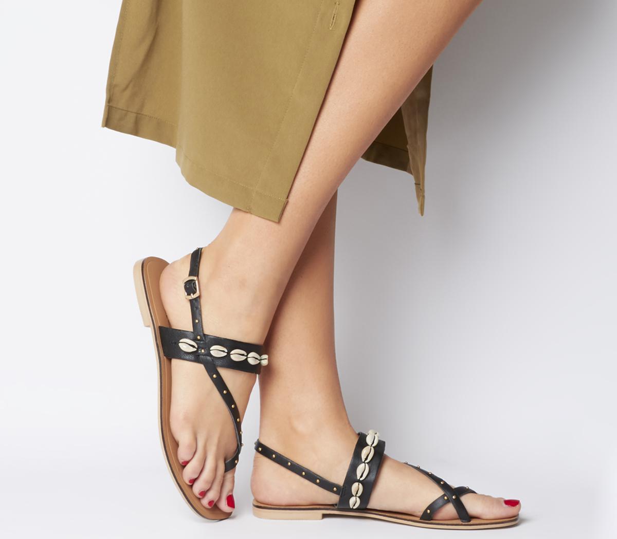 Shell Toe Post Sandals