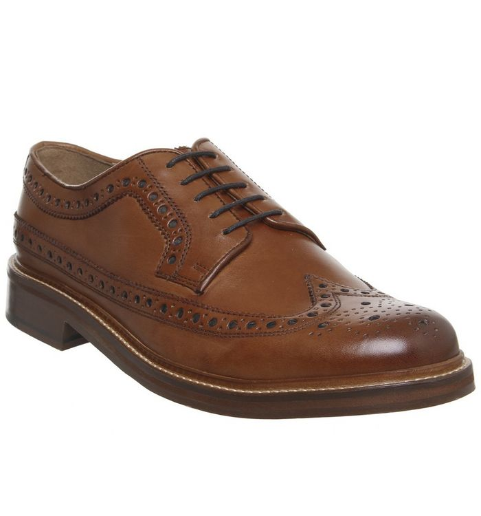 Office Lucre Brogue TAN LEATHER