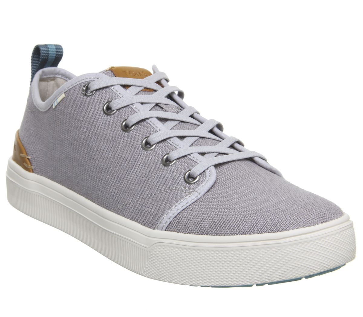 a04dc163a41 Toms Trvl Lite Low Trainers Drizzle Grey Heritage Canvas - Casual