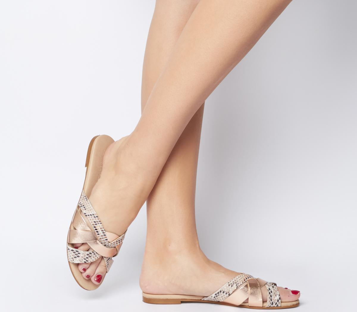 Saffron Mule Sandals - Wide Fit