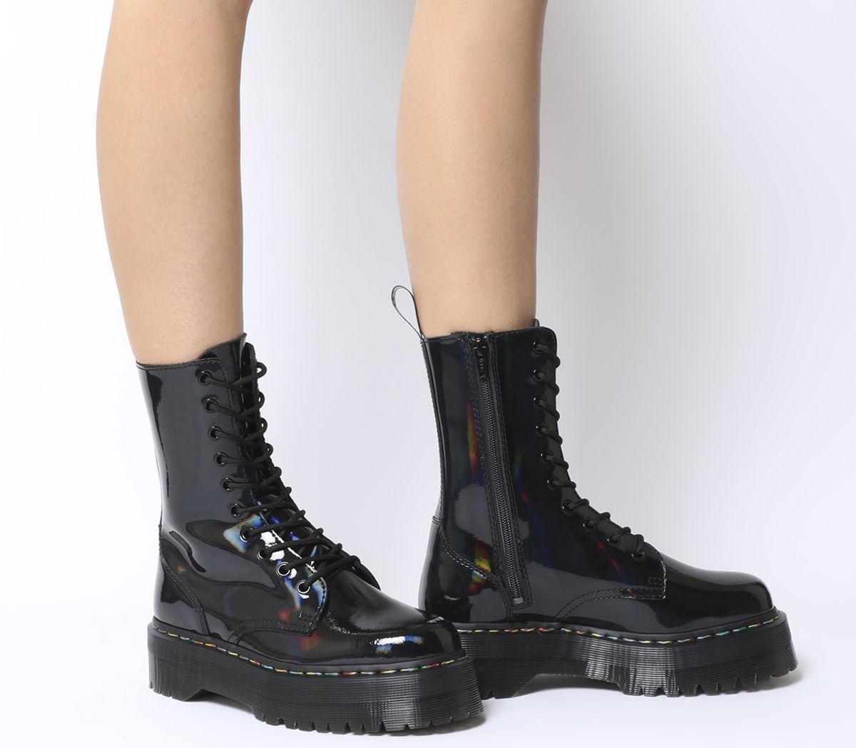 online store b14e8 c1d1b Dr. Martens Jadon Hi Boots Black Rainbow - Ankle Boots