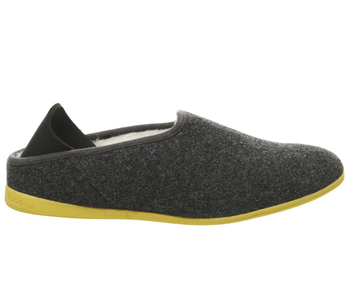 8d44e7008ee Mahabis Mahabis Classic Slippers Larvik Dark Grey Yellow Sole - Slippers