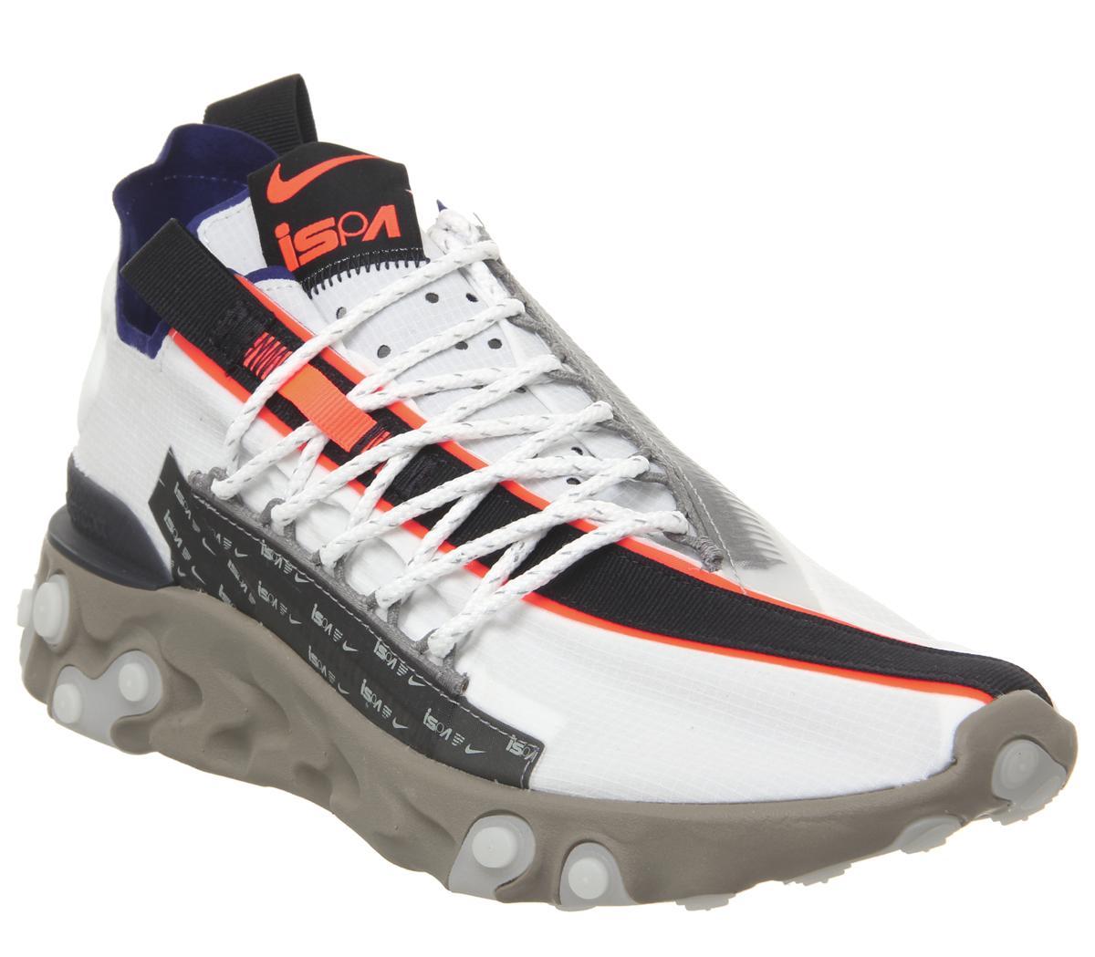 tímido Consistente infinito  Nike React Runner WR ISPA Trainers Summit White Deep Royal Khaki Black -  His trainers