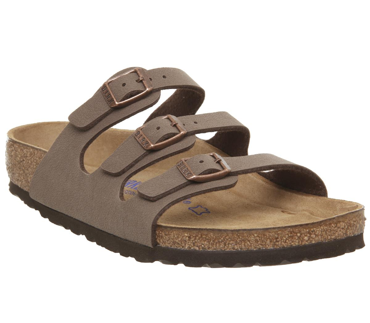 Birkenstock Florida Three Strap Sandals Mocha Sandalen