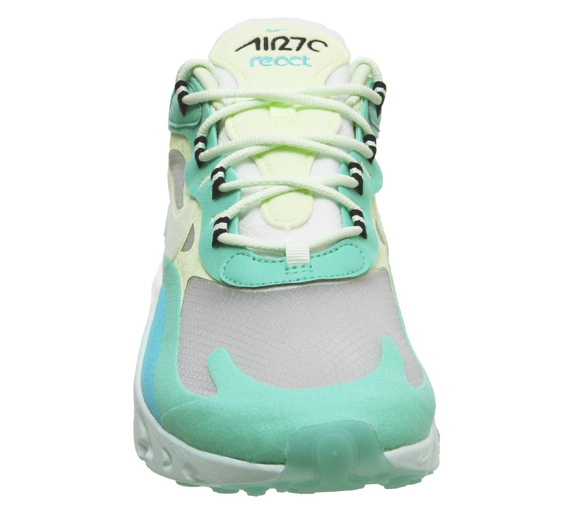 air max 270 react trainers hyper jade frosted spruce bare
