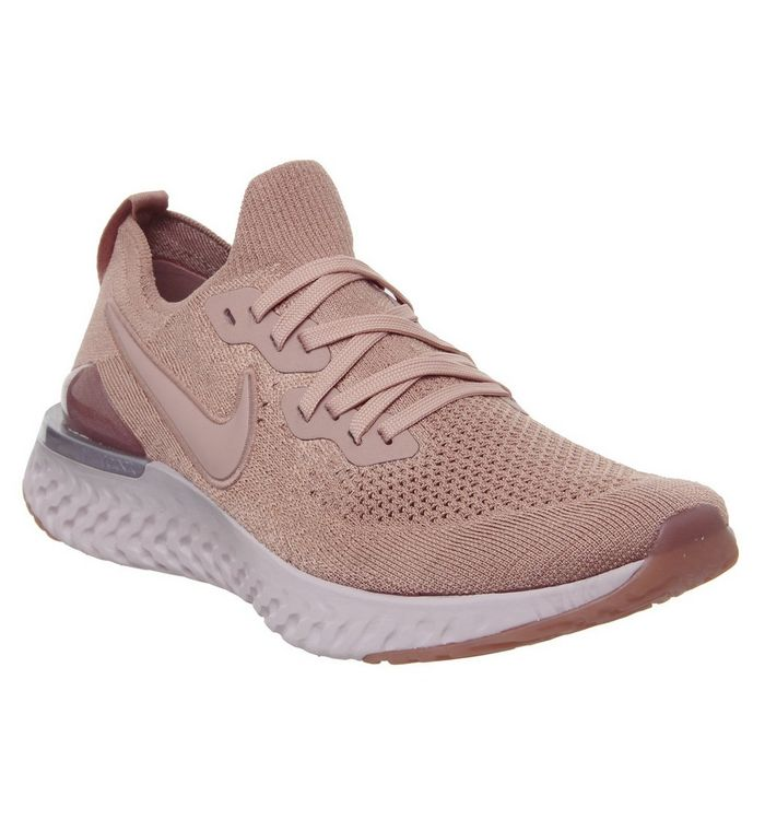 100% authentic united kingdom new release Nike Epic React Flyknit 2 Trainers Rose Gold Barely Rose ...