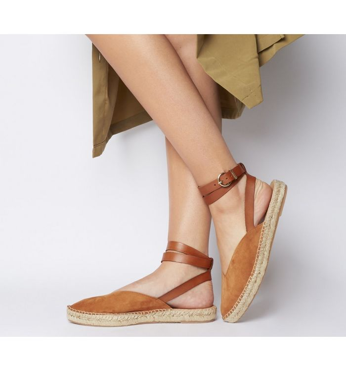 Office Faris Point Ankle Strap Espadrille TAN SUEDE