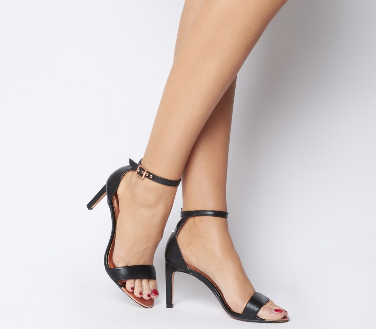 e9d379cd1 Ted Baker Ulanii Heels Black Leather - High Heels