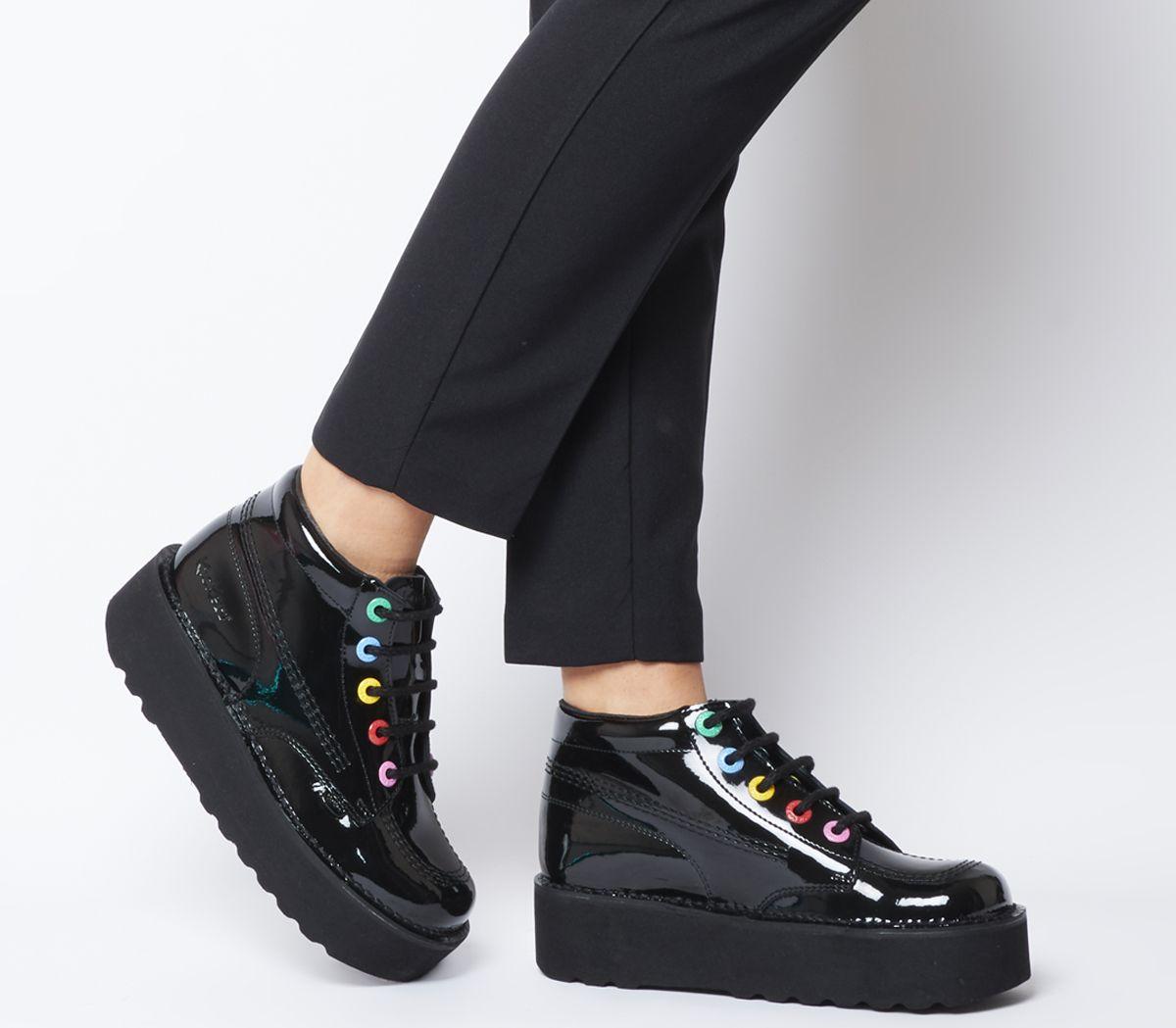 a59273fb Kickers Kick Hi Stack Shoes Black Multi - Flats
