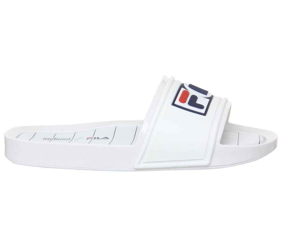 f70194bd7d2d Melissa Melissa Slide + Fila Sandals White - Sandals