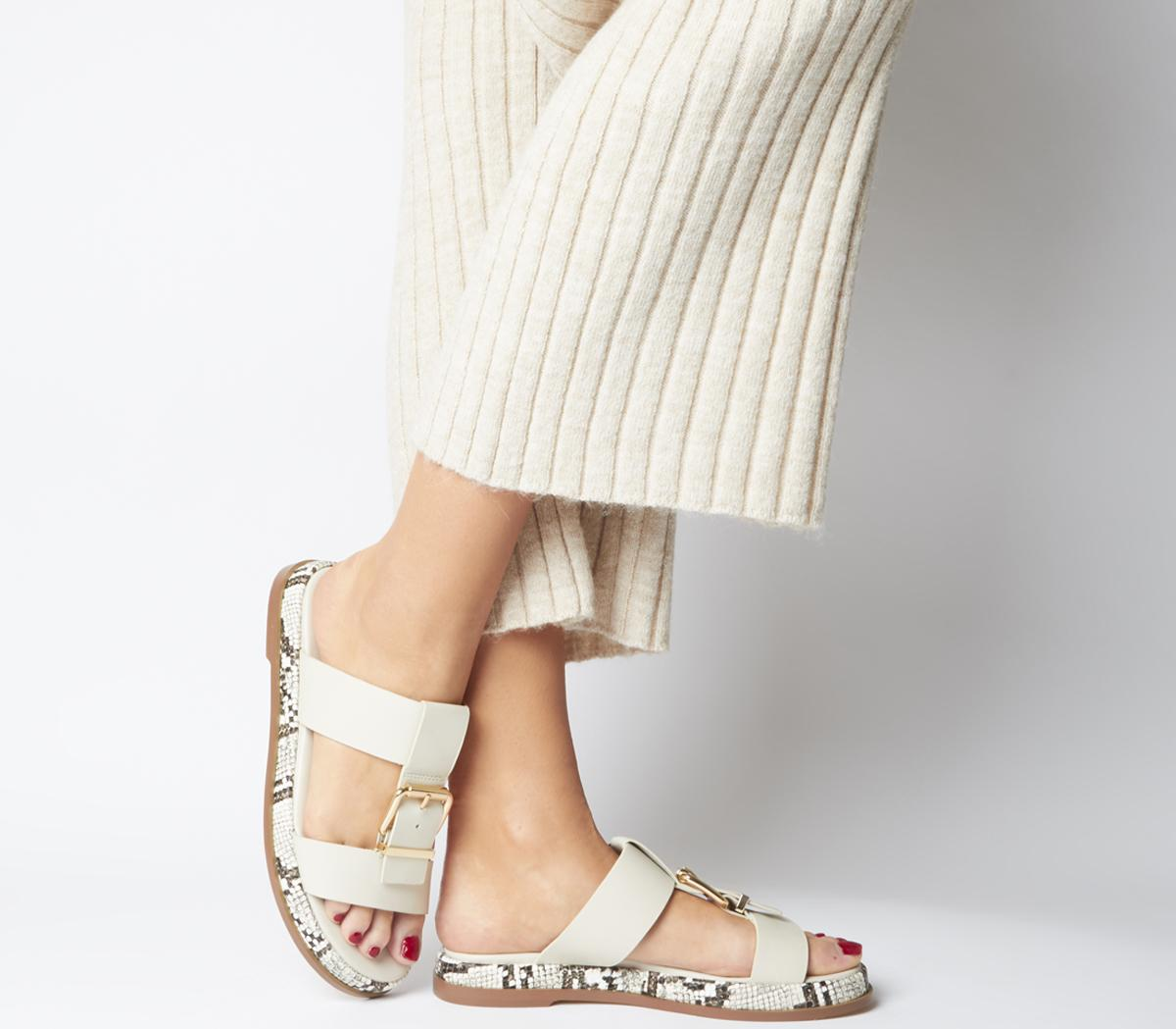 Stunner Buckle Strap Mule Sandals