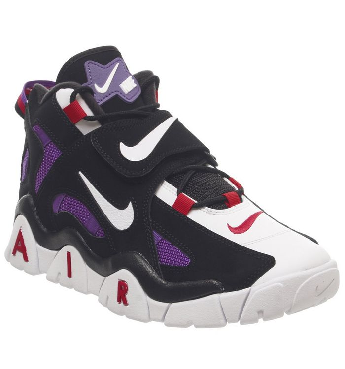 new product a8f61 f03ad Air Barrage Mid Trainers  Nike, Air Barrage Mid Trainers, Black White Hyper  Grape Qs ...