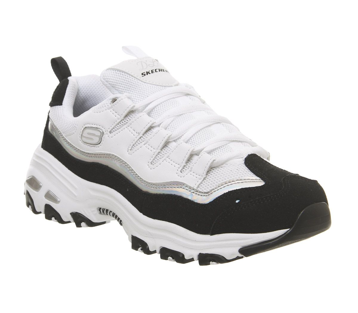 bac44c693b Skechers D'lites Black White Silver - Hers trainers